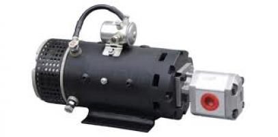 1 Elektros variklių su hidrauliniais siurbliais blokai